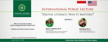 "Pengumuman Kuliah Umum Internasional; Tema ""Digital Literacy: Why it Matters?"""